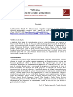 LANGACKER, Ronald W. Subjectification_tradução