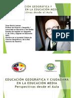 Educación Geográfica desde el aula