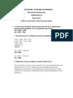 Ejercicios oferta y demanda de mercado v2
