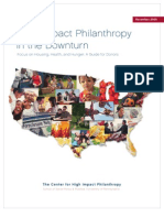 High Impact Philanthropy in the Downturn