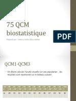 75 QCM biostatistique