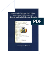 Acceso a la Información Pública Archivos y Bibliotecas en la Constitución Política del Estado .pdf