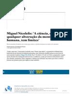 Miguel Nicolelis_ 'A ciência, como qualquer abstração da mente humana, tem limites' - Aliás - Estadão