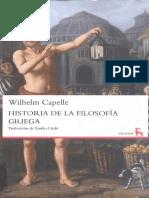Wilhelm Capelle - Historia de la filosofía griega