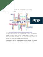 MATERIAL DE APOYO. CAPÍTULO I CONCEPTOS ETICA- MORAL- AXIOLOGIA