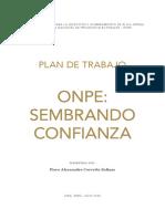 "Plan de Trabajo ONPE ""Sembrando Confianza"" de Piero Corvetto Salinas"