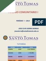 PRESENTACION TRABAJO COMUNITARIO I  1 2013.ppt