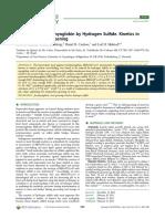 Reduction of Ferrylmyoglobin by Hydrogen Sulfide. Kinetics in