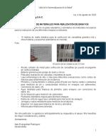 Petición de materiales para ensayos