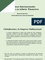 Notas de Clase No. 1, Finanzas Internacionales