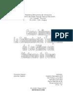 Proyecto Estimulacion temprana de los nios con Sndorme de down (1)
