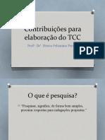 Contribuições para elaboração do TCC