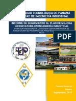 Seguimiento al plan de mejora 2016-2017 - Licenciatura en Ingeniería Industrial