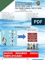 REGÍMENES TRIBUTARIOS - NRUS Y RER.pptx