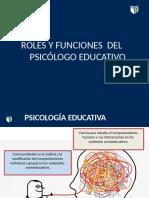 PPT - ROLES Y FUNCIONES DEL PSICOLOGO EDUCATIVO