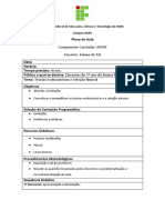 Modelo de Plano de aula - IF