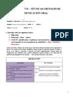 PRÁCTICA N°14 Técnicas grupales de comunicación oral - ENVIAR