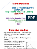 Lecture 10 SD Single Degree of Freedom System Impulsive Loading