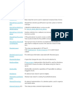 API classes