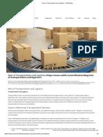Role of Transportation and Logistics - Vskills Blog.pdf
