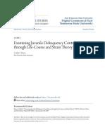 Examining Juvenile Delinquency Contributors through Life-Course a