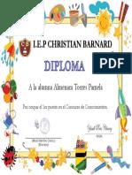4 años CONCURSO DE CONOCIMIENTOS 1° puesto