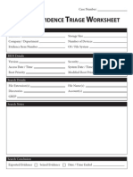 Digital Evidence Triage Worksheet