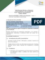 Guia de actividades y Rúbrica de evaluación - Tarea 1 - Reconocer necesidades de aprendizaje
