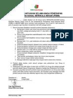 SE Tata Tertib Karyawan Masa PSBB
