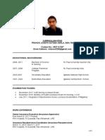 Curriculum Vitae Francis Joseph
