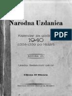 Narodna Uzdanica 1940.