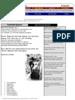 Confined Space Hazards - Training Handout