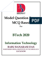 BBDNIIT IT 2020 MCQ DB