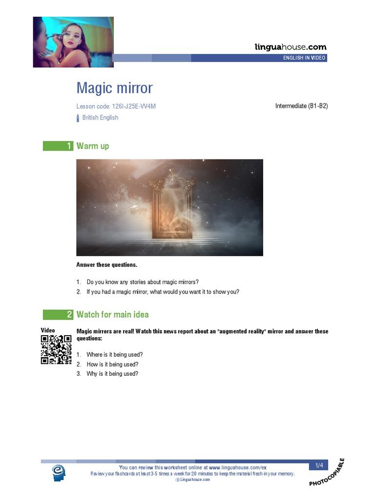 Magic Mirror British English Student   PDF   English Language ...