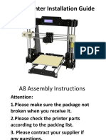 Anet A8 3D Printer Installation Instructions