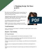 EFT Negative Thinking Script