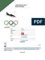Luge aux Jeux olympiques de la jeunesse d'hiver de 2020