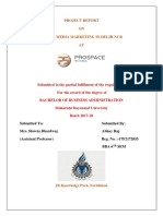 Social Media Marketing Project Report