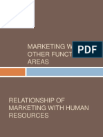 Marketng and other functional area