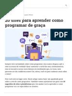 20 sites para aprender como programar de graça _ Hostinger Tutoriais.pdf