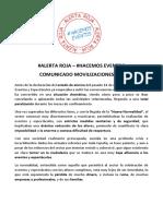 Comunicado Movilizaciones 17S - Asociaciones