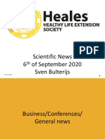 Scientific News 6th of September 2020