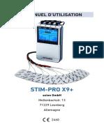 Manuel d'utilisation STIM-PRO X9+