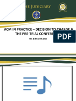 ACM IN PRACTICE – THE PRE-TRIAL CONFERENCE I final.