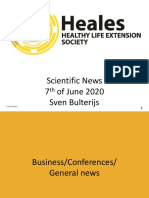 Scientific News 7th of June 2020