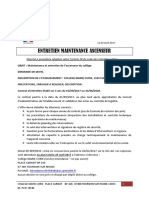 Entretien Maintenance Ascenseur 2017