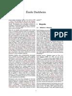 Émile Durkheim biografia