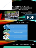 Analysis of education in Colombia for the development of its education system
