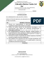 CRITERIOS AUTOEVALUACION Y COEVALUACION (1)BELLANIRA