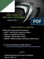CUDA 3.2 Math Libraries Performance